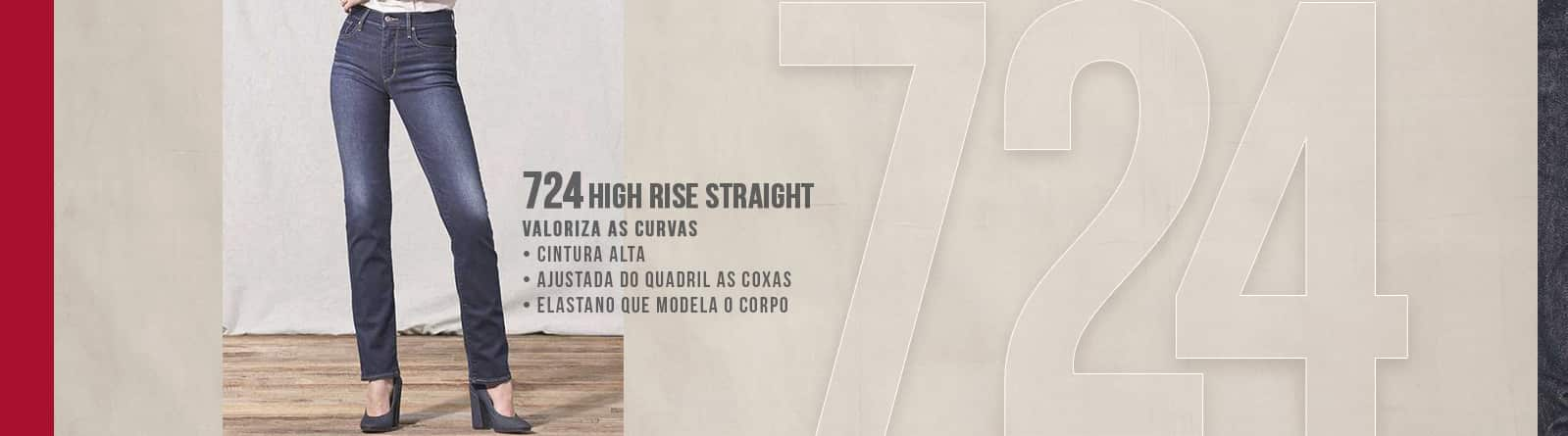724 High Rise Straight Levis