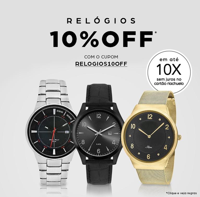 9c1f22c7455 Relógios 10% OFF