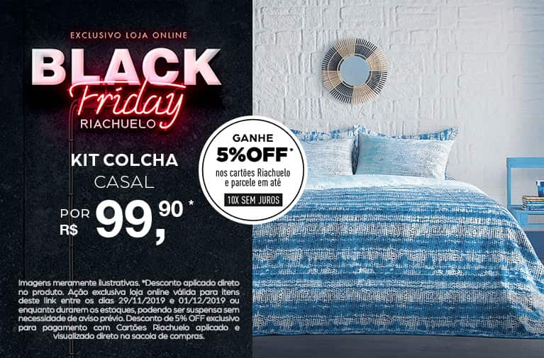 Riachuelo - Black Friday Kit Colcha Casal